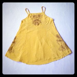 Free People Mustard Shift Dress. Size Medium. New!